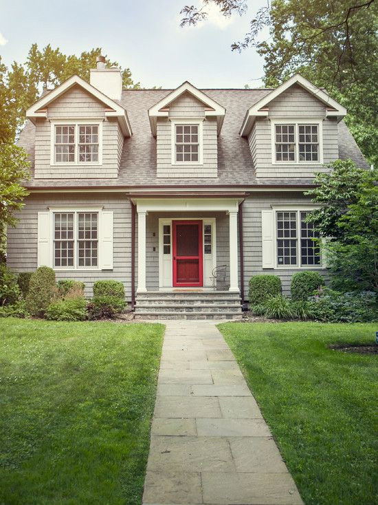 traditional house exteriors & Traditional House Exteriors. Love The Dark Roof With Light House ...