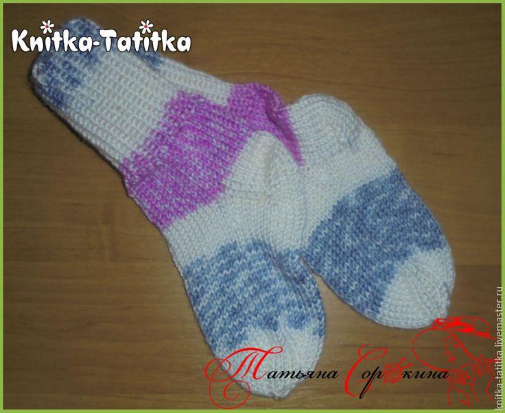 Купить Носки детские - разноцветный, носки, носочки вязаные, носки ручной работы, носки спицами