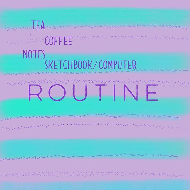 Routine: I dont have a proper routine but hot drinks are important I like to be able to write notes whether just on my phone or in a sketch pad when I have ideas. Then moving into sketches either in pencil or digitally. This is so they can be made in to laser cut pieces or flat designs or both. #marchmeetthemaker