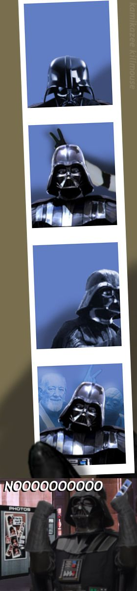 Darth Vader's visit to a photo booth
