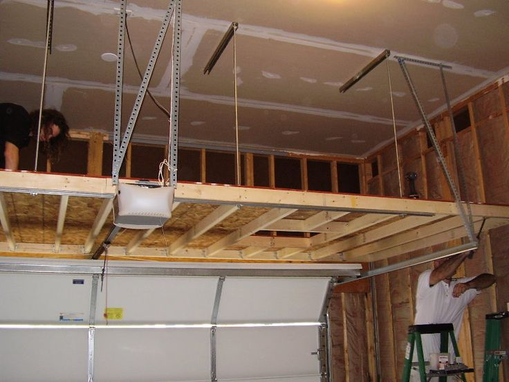 34 best images about garage attic on pinterest garages for Diy garage storage loft