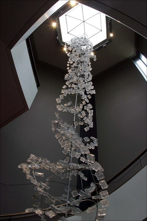 High Quality Suspended Glass Installation Sculpture At Canadau0027s National Arts Center Design