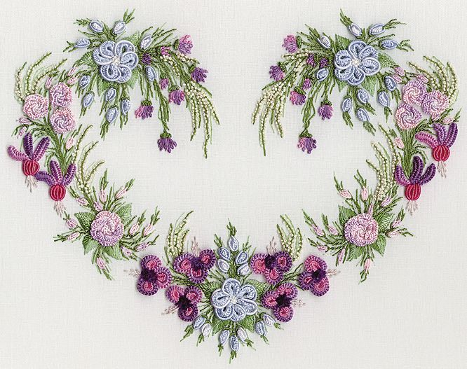 I ❤ embroidery . . . gorgeous Ariel's Heart - Brazilian Dimensional Embroidery