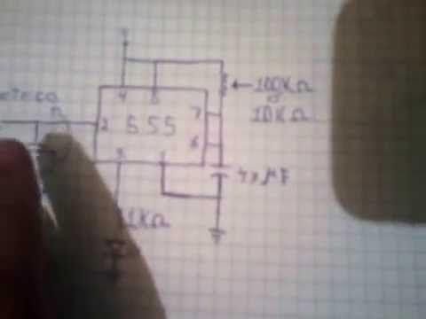 los materiales son: cI 555 1 resistencia de 1k 1 potenciometro de 100 ó 10 k cristal piezoelectrico capacitor electrolitico de 47 micro faradios a 16 v bater...