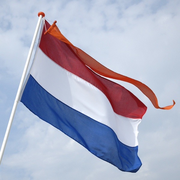 Dutch Flag - Royal standard of the Oranjes is only flown over the Dutch flag on designated days including specific royal birthdays.