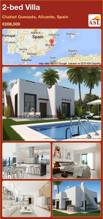 2-bed Villa in Ciudad Quesada, Alicante, Spain ►€208,500 #PropertyForSaleInSpain