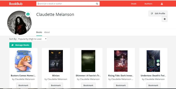 Please take a second to follow me on Bookbub With one click, you'll receive information on new releases. It's the best place to stay up to date! Bookbub is the best place to find special deals on the specific genres that appeal to you! Please follow me here: https://www.bookbub.com/authors/claudette-melanson Thank you so much for your support!