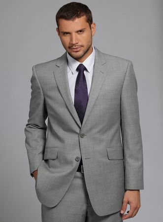 Purple Ties Grey Suits And Suits On Pinterest