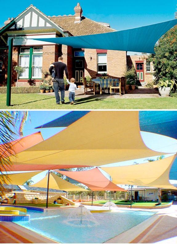 Coolaroo Shade Sails as patio covers