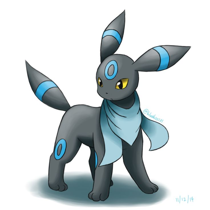 Request: Shiny Umbreon with Foulard by Bluekiss131 on DeviantArt