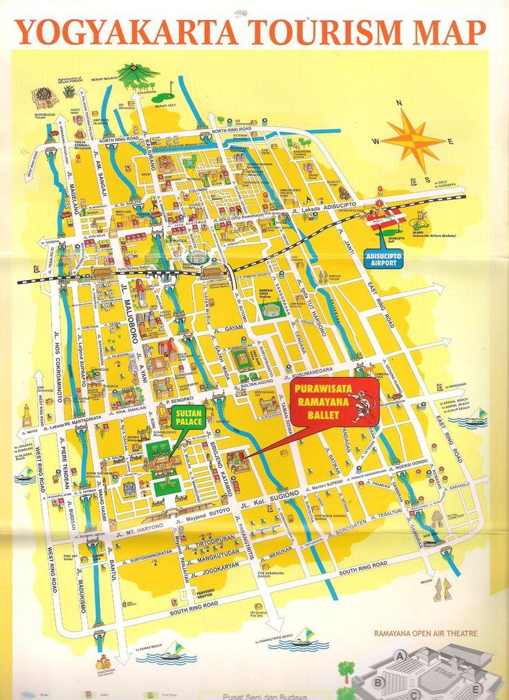 Peta Jogja Map #travel #wisatajogja #petajogja http://tentangjogja.id