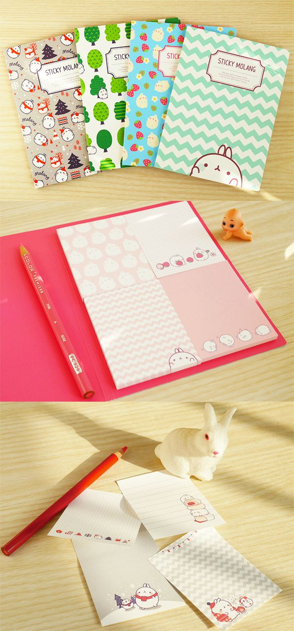 Have you met Molang the cutie? This cute chubby rabbit is the star of the Molang Sticky Notebook. 4 unique notepads are included in each slim notebook, making it perfect to carry in your planner or binder! These versatile sticky notes can be used as bookmarks, page flags, or to jot down important notes! The perfect addition to your stationery collection, it'll make studying bearable and even fun! Put this on your school supply wishlist and make sure you're prepared for whatever comes your…