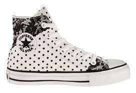 Black & White Polka Dotted Converse