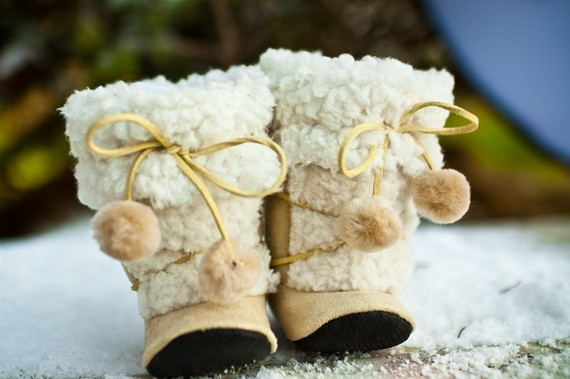 Fuzzy Eskimo Boots in Caramel by GraciousMay at Etsy - $60.00