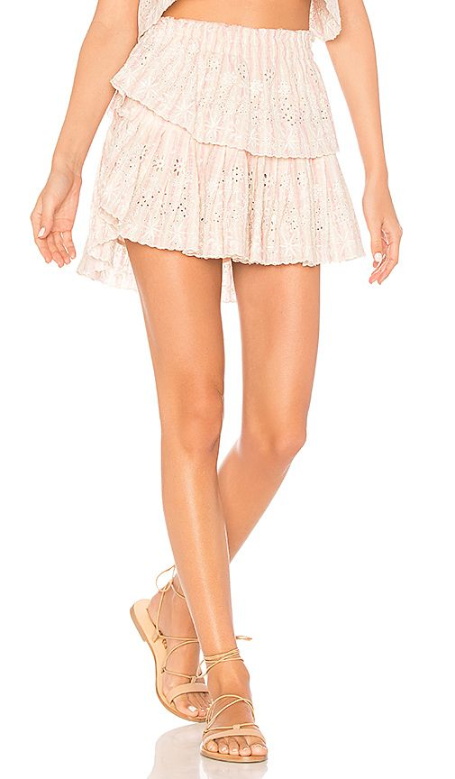 5e3d80998f LoveShackFancy Ruffle Mini Skirt in Tan & Pink | REVOLVE | Must ...