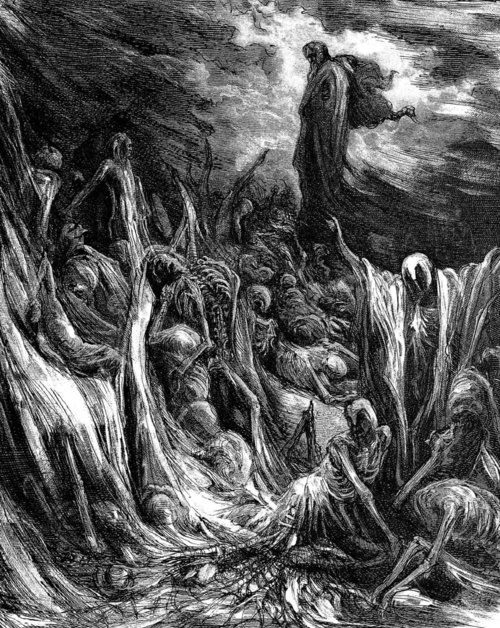 The Slavic god Weles collecting the souls of the dead