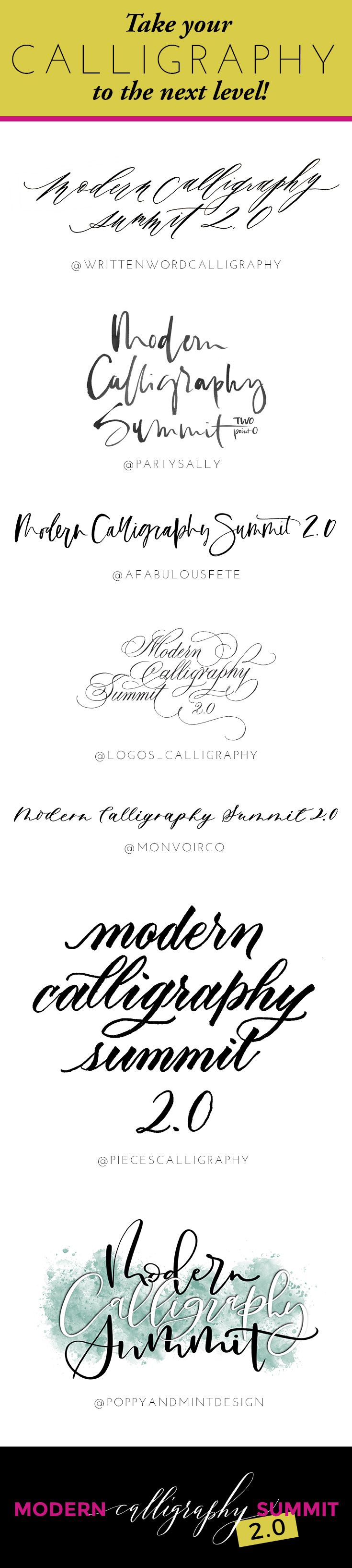 Modern calligraphy summit learn how to letter on