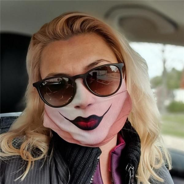 Halloween. 2020 17.99 US$ 17.99   Face Emoji Print Breathable Mouth Mask   .miupie