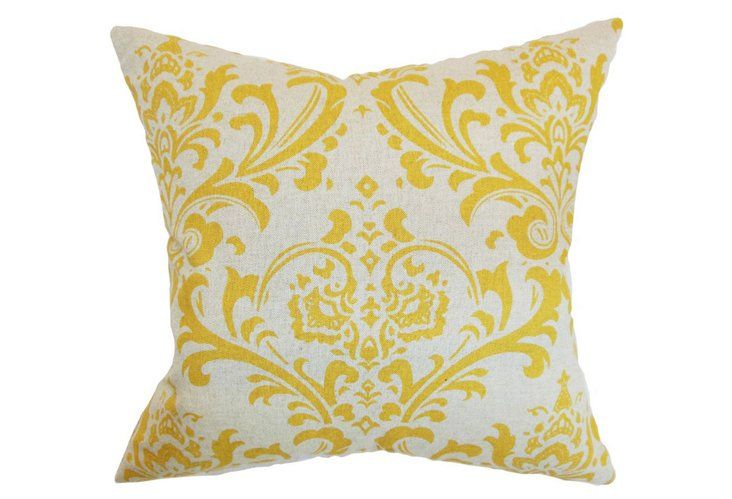 Olavarria 18x18 Pillow, Corn Yellow