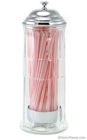 Old Fashioned Straw Dispenser $19.99