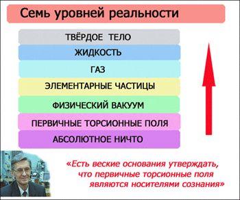 Схема материализации человеческой мысли. Торсионные поля