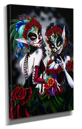 Day Of The Dead :: Day Of The Dead Canvas - Design 4 50x70CM