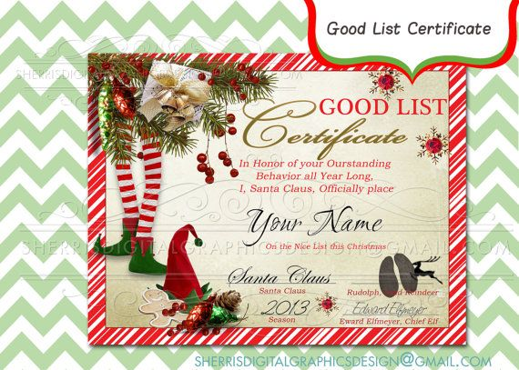 Personalized lettter from santa good list by sdgdesignz on etsy 7 90