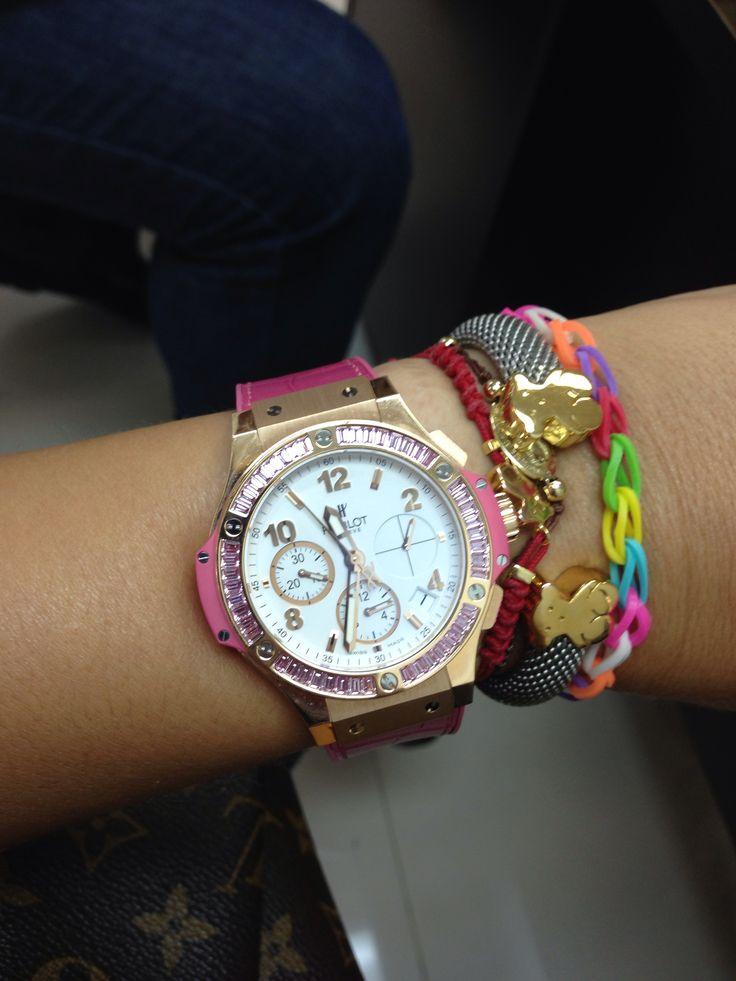 Hublot Women Watch Pink Diamonds Fashion Pinterest