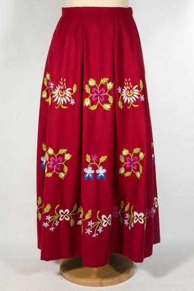 The traditional costume embroidery from Lihula Parish, Lääne County, Estonia.