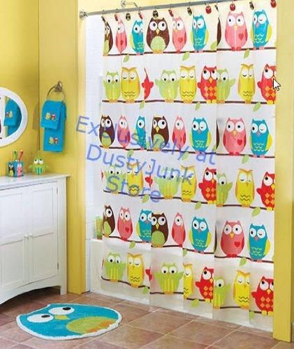 Cute Owl Bathroom Shower Curtain - Perched Owl , http://www.amazon.com/dp/B00BGKQHUA/ref=cm_sw_r_pi_dp_0d6orb1M8GCC9