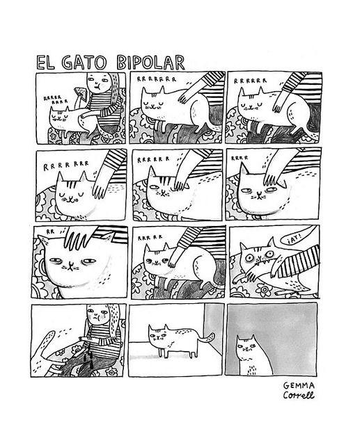 El Gato Bipolar by Gemma Correll