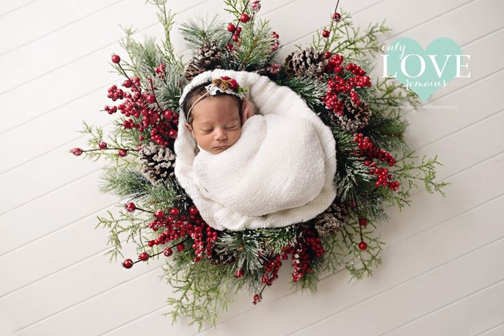 Christmas Wreath - Pearland Tx Newborn Photographer