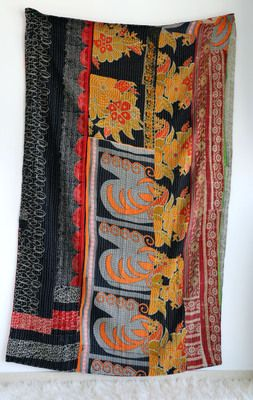 Vintage Bengali Kantha throw from Rajasthan. From Nordenblank shop on www.facebook.com/...