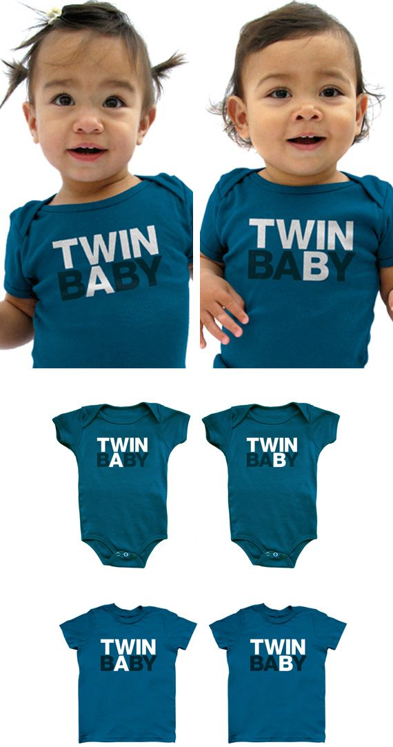 I actually want twins... and this is genius! For the friends and family who come over to visit (I'm sure they'd appreciate something like this so they don't have to keep asking lol) ... or for the days when you just don't have the energy to tell them apart haha