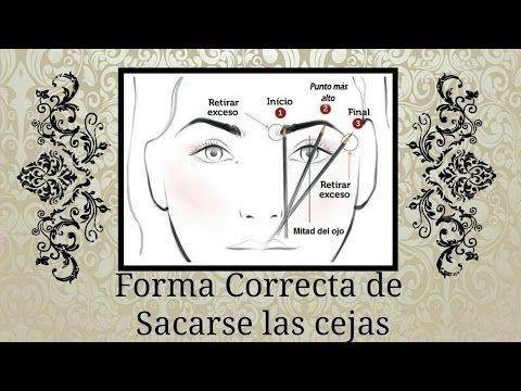 Forma Correcta de Sacarse las cejas - YouTube