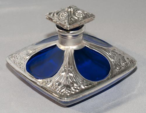 Vintage Cobalt Blue Glass Perfume Bottle  I actually have one of these, in crystal glass.