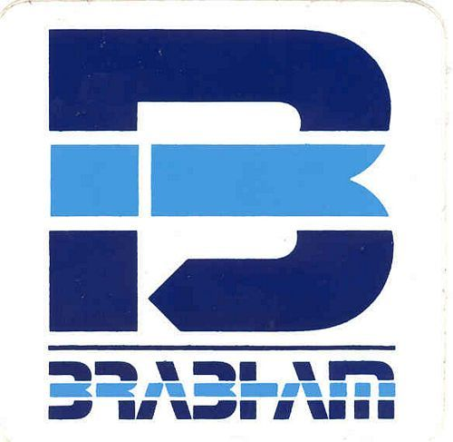 Stickers and patches brabham logo sticker x