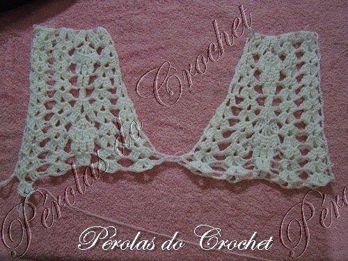 * Pérolas do Crochet: Bata em crochet com Passo a passo