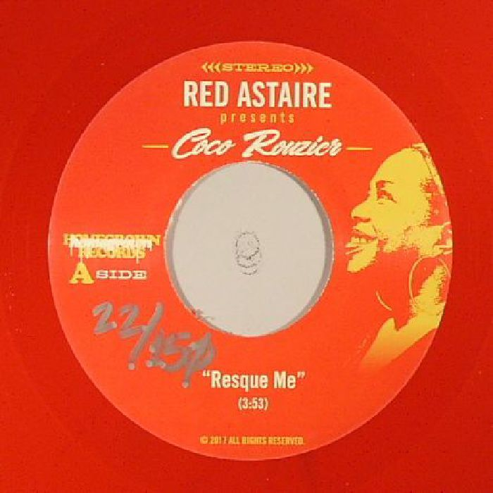 The artwork for the vinyl release of: Red Astaire | Coco Rouzier - Resque Me (Homegrown) #music SoulJazz
