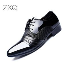 Marque de luxe Hommes Chaussures Hommes Appartements de Chaussures Hommes En Cuir Verni Chaussures Classique Oxford Chaussures Pour Hommes Nouvelle Mode(China (Mainland))