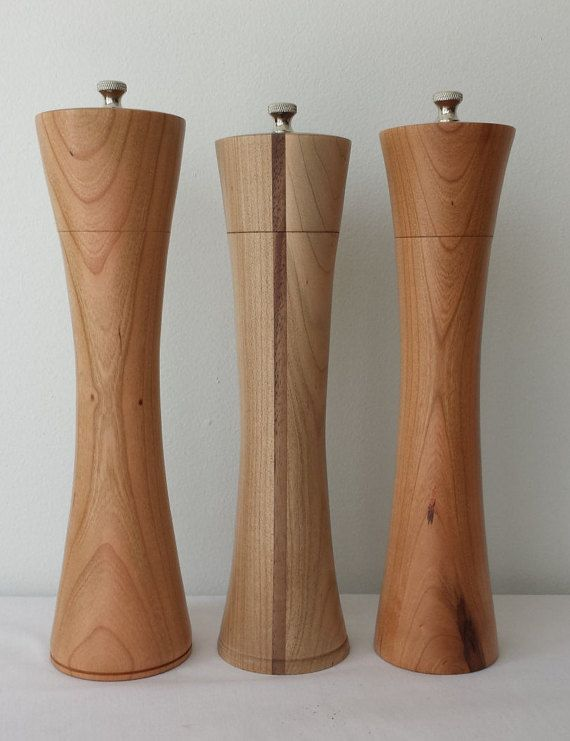 Simply Rooted Woodshop: Wooden Peppermills