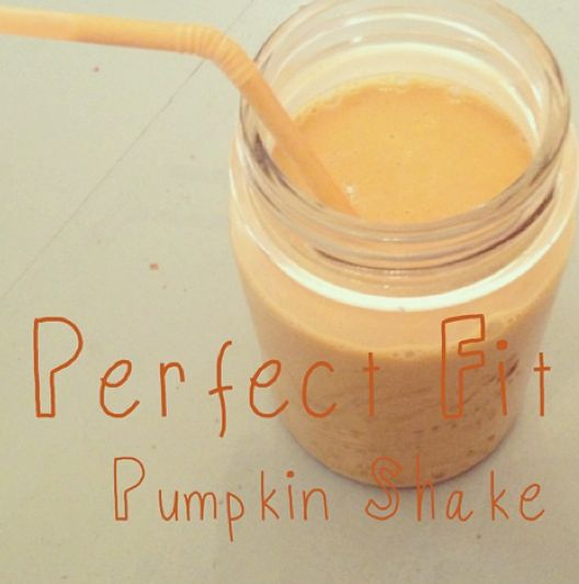 Perfect Fit Protein Pumpkin Smoothie recipe from TiuLeslie  ½ cup pumpkin 1 scoop of Perfect Fit Protein 1 cup unsweetened almond milk 4-5 ice cubes dash of cinnamon