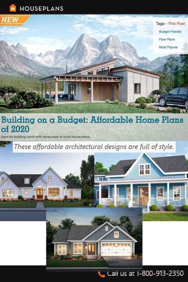 Building On A Budget Affordable Home Plans Of 2020 In 2020 House Plans Affordable House Plans Cheap House Plans