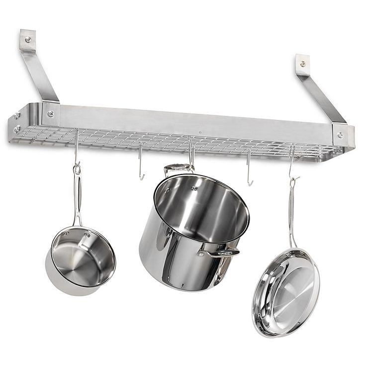 Cuisinart® Brushed Stainless Steel Rectangular Bookshelf ...