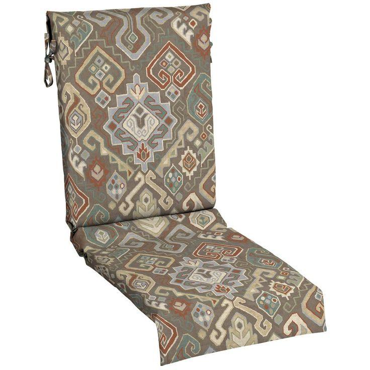 Hampton Bay Southwestern Saddle Outdoor Dining Chair Cushion