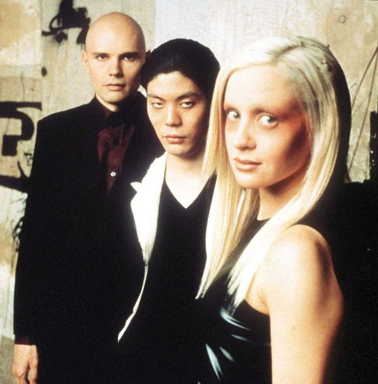 smashing pumpkins: billy corgan, james iha, d'arcy wretzky