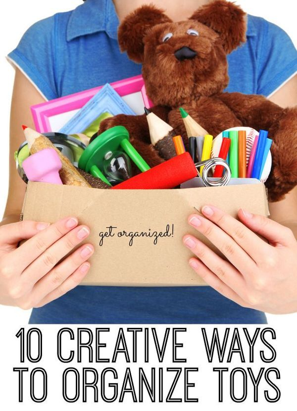 10 Creative ways to organize toys - My kids have more toys than I care to admit. And while they play with most of them, our toy organization leaves a lot to be desired. Luckily, the internet is full of creative mamas with great ideas to help me organize toys!