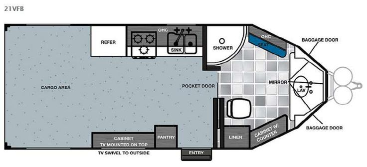 Image result for Cargo Trailer Conversion Floor Plans V-Nose 7X16