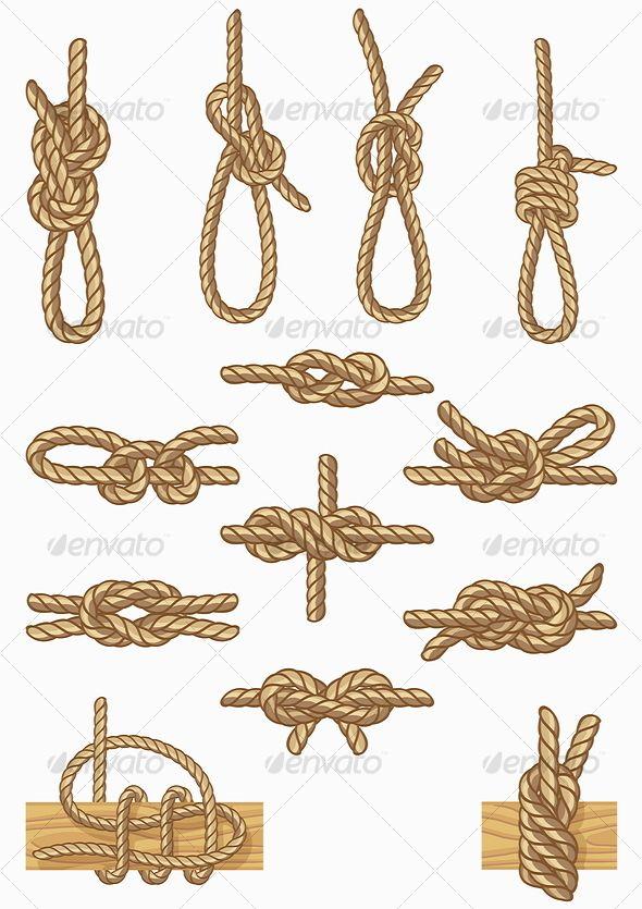 boating knots - Miscellaneous Vectors