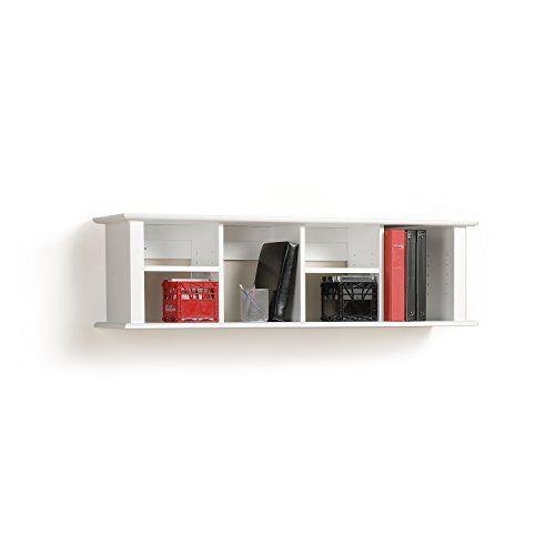 White Wall Mounted Desk Hutch Prepac http://smile.amazon.com/dp/B002LC66TO/ref=cm_sw_r_pi_dp_alcPwb0FKY4R7